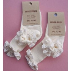BABY SOCKS 100% ORGANIC COTTON WITH LACE