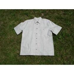 Linen Shirt Normal Neck Short Sleeve