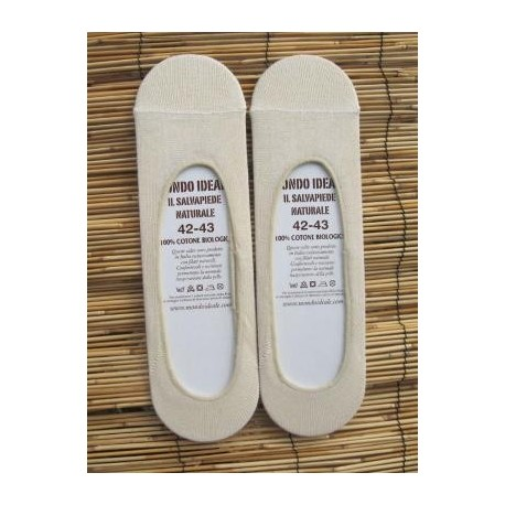 INVISIBLE SOCKS UNDYED (100% ORGANIC COTTON). SHORT.  (a couple)
