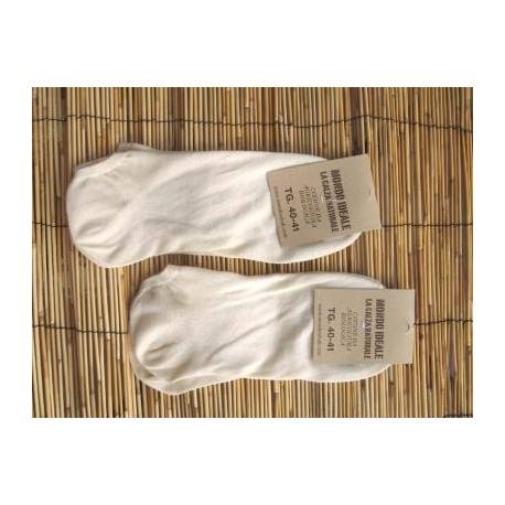 INVISIBLE SOCKS UNDYED (100% ORGANIC COTTON). LONG.  (a couple)